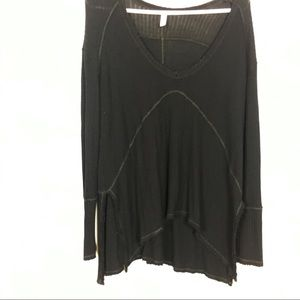 Free People Black Oversized Long Sleeve Thermal XS